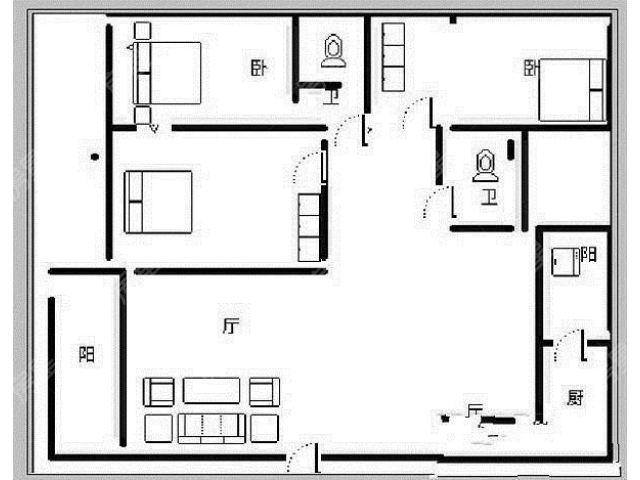 远洋风景豪装3室 2梯3户板房正南向 对小区花园三个卧室朝南